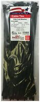 "(100) Black 15"" Heavy Duty Cold Weather Nylon Cable Wire Wrap Zip Ties 120 LBS"