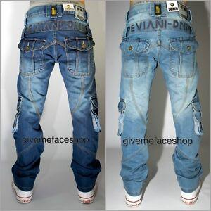Peviani cargo g bar jeans, combat rock- star mens, time is money hip hop urban