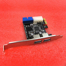PCI Express USB 3.0 2 Ports Front Panel 4-Pin & 20 Pin Control Card Adapter