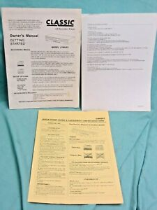 Classic CD Recorder Player CDR201 Manual, Quick Guide