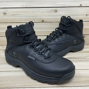 Timberland White Ledge Waterproof Mid Hiking Boots Black 12122 Mens Size 9 Wide