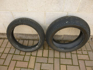 Pirelli Diablo Rain Pair 120/70 190/60 ZR17 Little Used Full Wets Tyres Scrubs