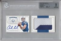Andrew Luck 23 2012 National Treasures Rookie Jumbo Patch Auto Booklet 47/49 BGS