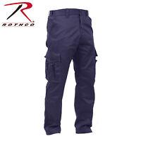 Rothco Deluxe EMT EMS BDU Uniform Cargo Pants Black, Navy  3823