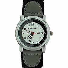 Cannibal Unisex Quartz Watch with White Dial Analogue Display and Black Nylon St