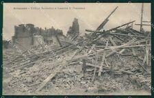 L'Aquila Avezzano Terremoto cartolina XB1932