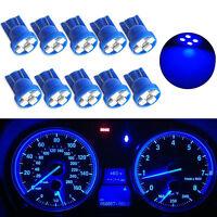 10PCS 4-SMD LED T10 Car Wedge Gauge Cluster Bulbs Dashboard Light W5W 194 2825