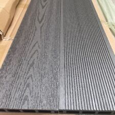 More details for charcoal grey grooved topped composite decking | 25 boards | 10 square metres