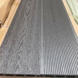Charcoal Grey Grooved Topped Composite Decking | 25 Boards | 10 Square Metres