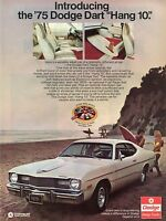 1974 Print Ad for 1975 Dodge Dart Hang 10 Surfing Inspired Edition