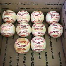 Lot Of (10) 1982 Rawlings World Series Official Baseballs Haiti