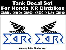 Tank decals for Honda XR100 XR200 XR250 XR400 XR500 XR600 XR650L dirtbikes wbb