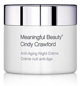 Cindy Crawford's Meaningful Beauty Anti-Aging NIGHT CREAM 1.7 oZ / 50ml