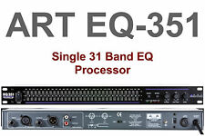 ART EQ351 1U SINGLE 31 BAND EQUALIZER PROCESSOR $5 INSTANT OFF HOME STAGE STUDIO