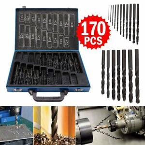 Set punte punta 170 pz foratura trapano ferro metallo in acciaio HSS DA 1 A 10mm