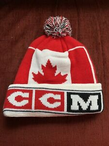 NEW CCM Team Canada Hockey Winter Hat Beanie Touque Olympics