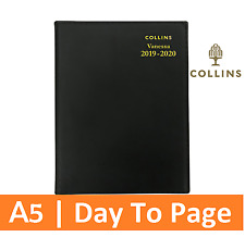 Collins Vanessa 2019-2020 Financial Year Diary - A5 Day to Page Black Fy185v99