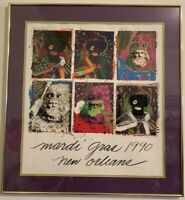 "1990 MARDI GRAS ""KINGS of CARNIVAL"" POSTER by RICHARD C. THOMAS Signed 153/5000"