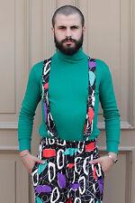 Adidas Herren Shirt Longsleeve Grün Green 80er True VINTAGE 80´s men Rollkragen