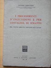 1942-I PROCEDIMENTI D'INGIUNZIONE E PER CONVALIDA DI SFRATTO-E.GARBAGNATI+