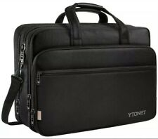 17 inch Laptop Bag, Travel Briefcase Organizer, Expandable Large Hybrid Shoulder