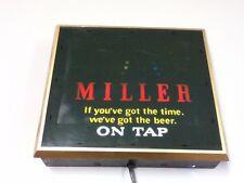 Miller High Life beer sign motion bouncing ball bounce lighted bar light tap Hi2