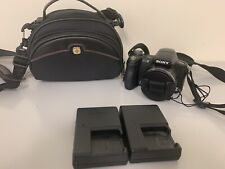 Sony Cyber-shot DSC-H50 9.1MP Digital Camera - Black 2 battery chargers w/bag