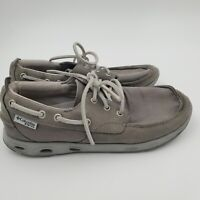 Columbia PFG Mens Boat Shoes Size 9 Grey Lace-Up Omni Grip