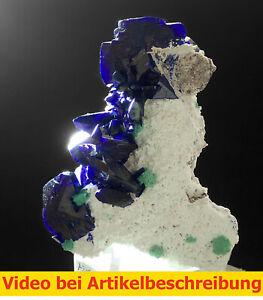 7099 Azurite Malachite ca 3*5,5*6 cm Milpillas Mexico MOVIE