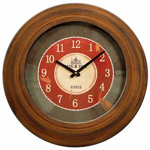 Metal Round Wall Clock Bronze 38cm