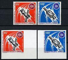 Space Raumfahrt 1975 Congo Kongo Brazzaville Soyuz 468-469 A + U Imperf/1129