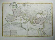 Antique Map of Roman Empire by Edme Mentelle 1818