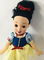 "Disney Snow White Princess doll-12"" Nice Hair vinyl face plush soft body Rare!"