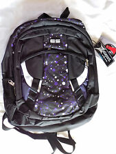 NWT NEW Eastsport Purple/Black Backpack W/Padded Tech Tablet/Laptop Pocket