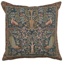 Tree In Blue French Woven Tapestry Cushion Cover Accent Pillow Home Decor