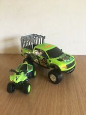 DINO VALLEY HAULER Ford Raptor Pick Up VEHICLE WITH SOUNDS & Quad Bike Hunters