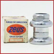 "NOS ZEUS GRAN SPORT HEADSET 1"" INCH THREADED VINTAGE 70s ROAD RACING NIB EROICA"