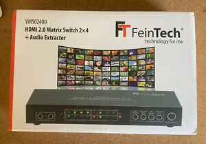 FeinTech VMS02400 Matrix Switch 2x4 HDMI & Audio Extractor - Brand New In Box