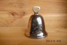 Christmas Bell Orniment Made in England Silver Tone-(Six Geese A-Laying)