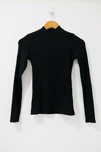 Forever New Size XS (6) Black High Neck Long Sleeve Good condition