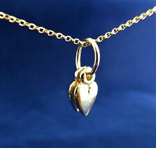 "9ct (375) Solid 3D Yellow gold charm ""Two Hearts"""