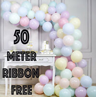 "5"" inch Small Quality Macaron Pastel balloons Round  Choose Colour 9 Free ribbon"