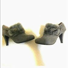 Gray Lasonia Booties/Heels