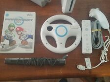 Nintendo Wii With MarioKart Bundle System with Wii Remote/Wheel-Homebrew Channel