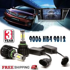 For Toyota Corolla 2Pcs 9006 HB4 9012 4-Side LED Headlight Kit Hi/Low Beam Bulbs