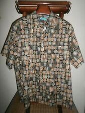 """TORI RICHARD 2XB -NWT- $105.00 100% Cotton Lawn """"Copyrighted Print"""" S/S Shirt"""