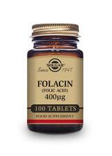 Solgar Folacin Vitamin B9 Folic Acid 400 µg Tablet - Pack of 100