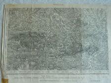 CARTE etat major 1/ 80000- 1889 à 1912 - LOURDES (à l'est de la feuille)