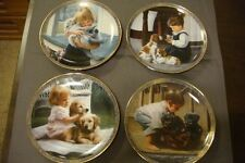 "4-Bradford Exchange Kevin Daniel ""Quiet Moments"" Collector Plates"