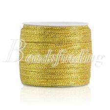 25 50 Yards Roll Gold Silver Sheer Organza Ribbon Craft Party Wedding 3-50mm
